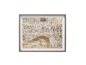 Paper Cut City Map Shanghai