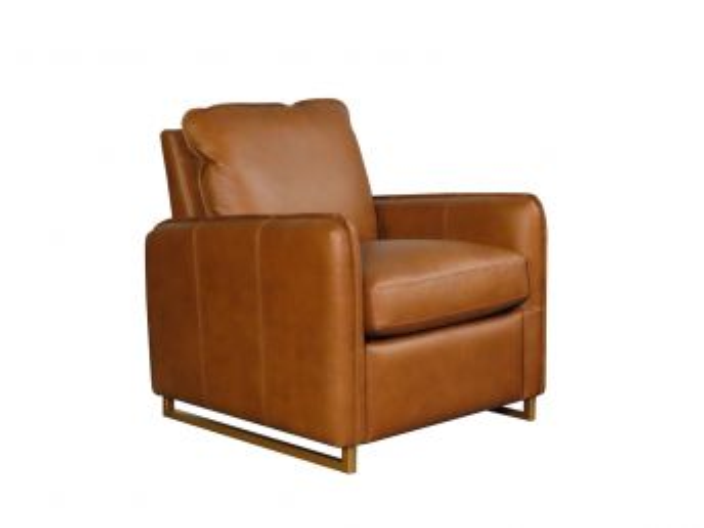 Beltran Recliner, Leather Parrot Maple