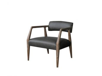 Miles Chair, Cortina Charcoal Leather