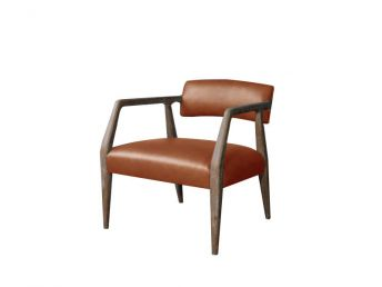 Miles Chair, Parrot Maple Leather