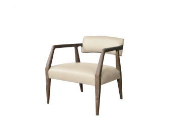 Miles Chair, Cortina White Leather