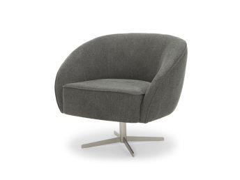 Freddie Swivel Chair, Slate Grey