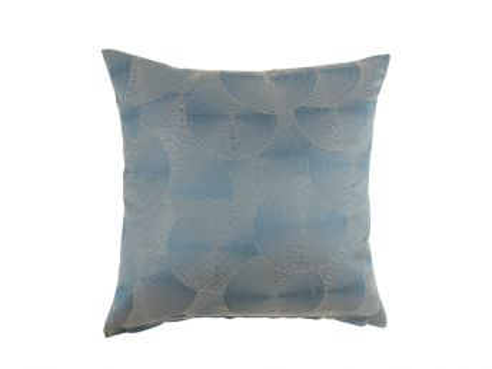 Ripple Swirl Cushion Cover, Blue