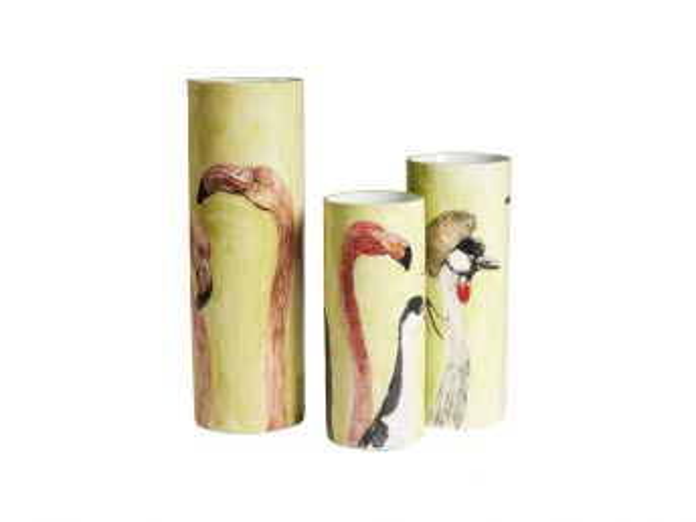 Wading Birds Vase, Low