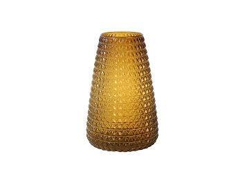 Dim Scale Glass Vase, Amber