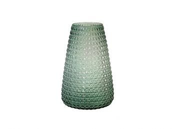 Dim Scale Glass Vase, Green Light