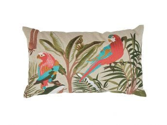 Parrot Forest Cushion Cover, 60x35cm