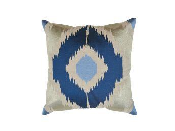 Kendall Ikat Cushion Cover, Azure 50x50cm