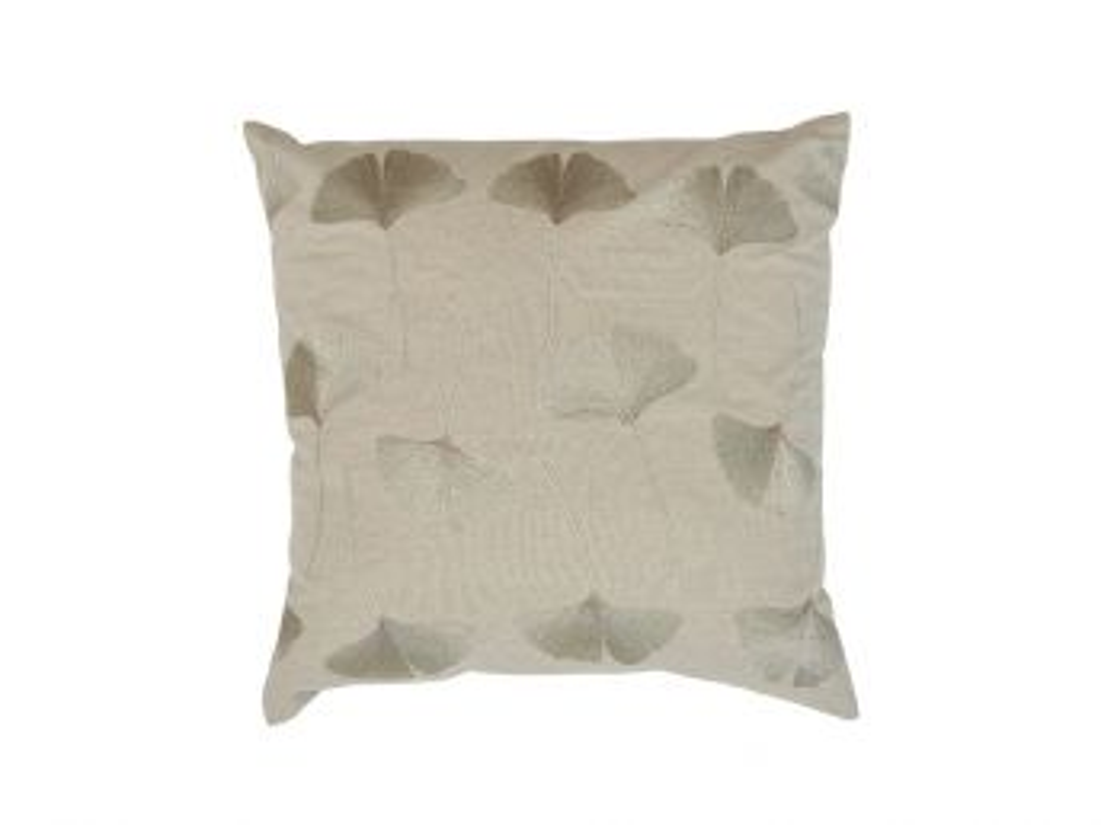Ginko Cushion Cover, Natural 50x50cm