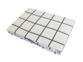 Charcoal Square Fitted Sheet, Single