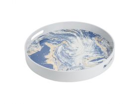 Gazelle Lacquered Tray Blue L