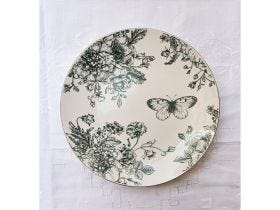 Flora Coupe Side Plate 21cm, Dark Green