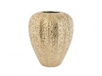 Gold Eroded Tall Vase