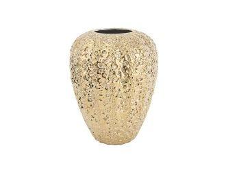 Gold Eroded Medium Vase