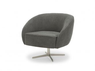 Freddie Swivel Chair, Slate Grey