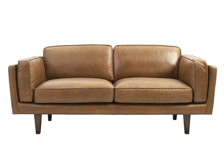 Brooklyn 2.5-Seat Sofa - Brown Leather