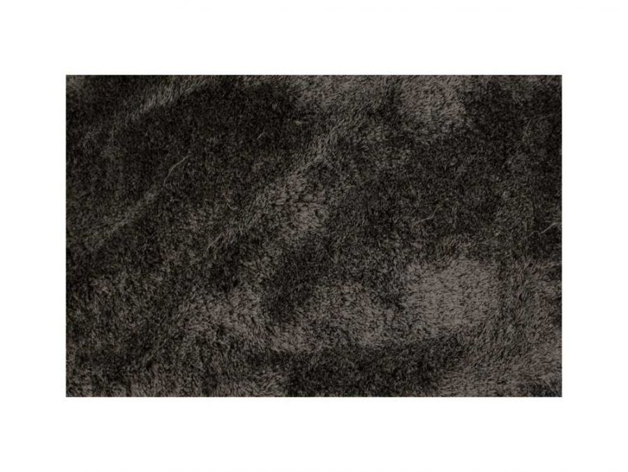 Silky Shaggy Rug, Black and White 9x12