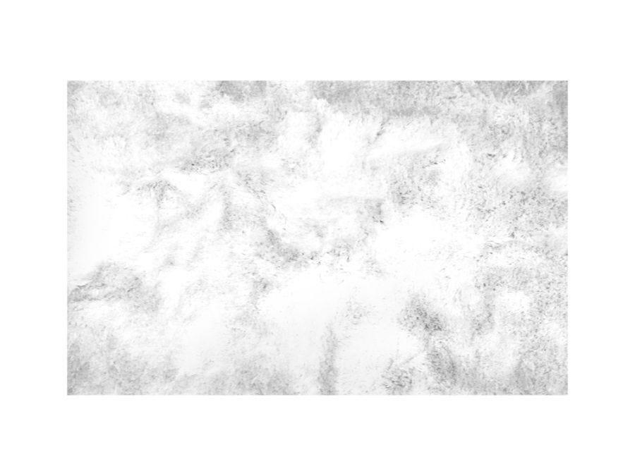 Silky Shaggy White Rug 9x12