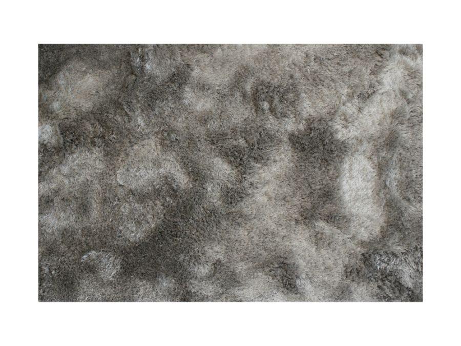 Silky Shaggy Rug, Silver 6x9