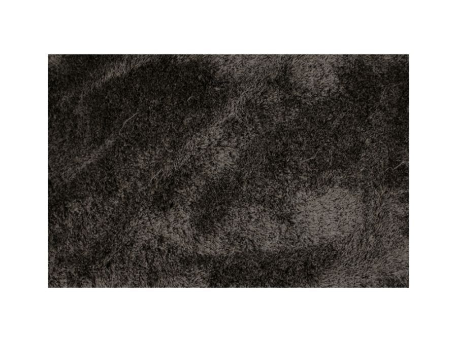 Silky Shaggy Rug, Black and White 6x9