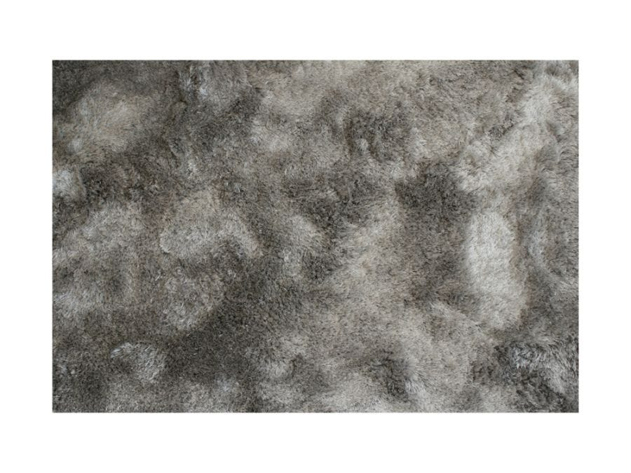 Silky Shaggy Silver Rug 4X6