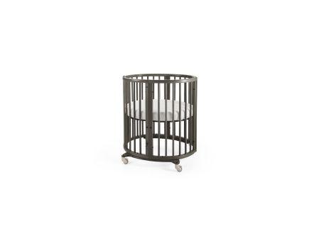 Sleepi Oval Mini Crib, Grey