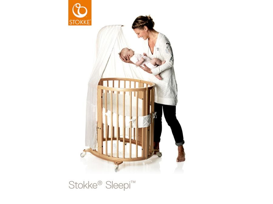 Sleepi Natural Mini Bed Include Drape Rod + Mattress