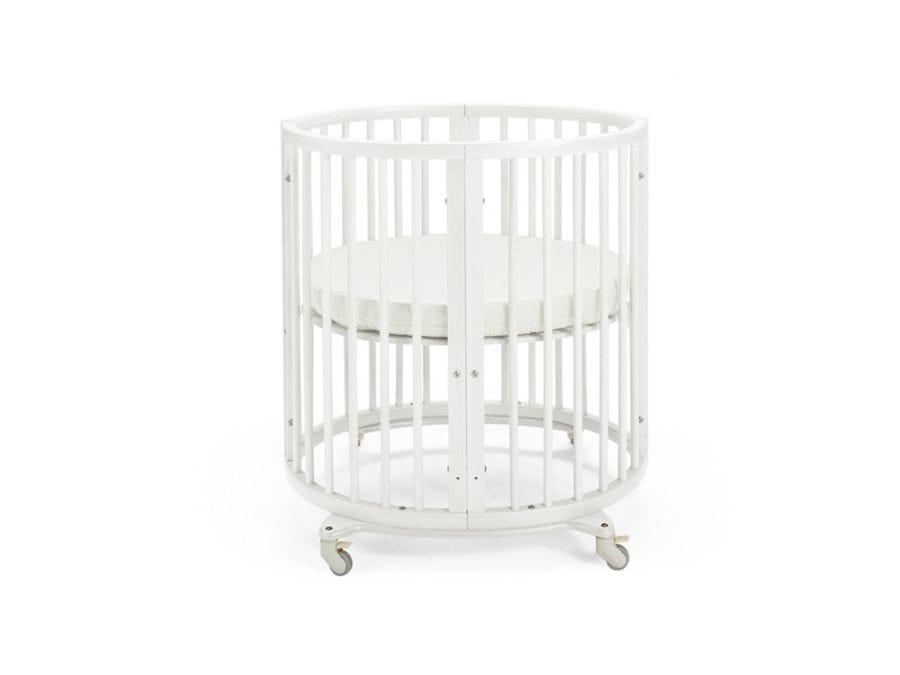 Sleepi White Mini Bed Include Drape Rod + Mattress