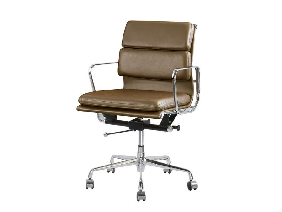 Eames EA217 Chair in Brown Leather