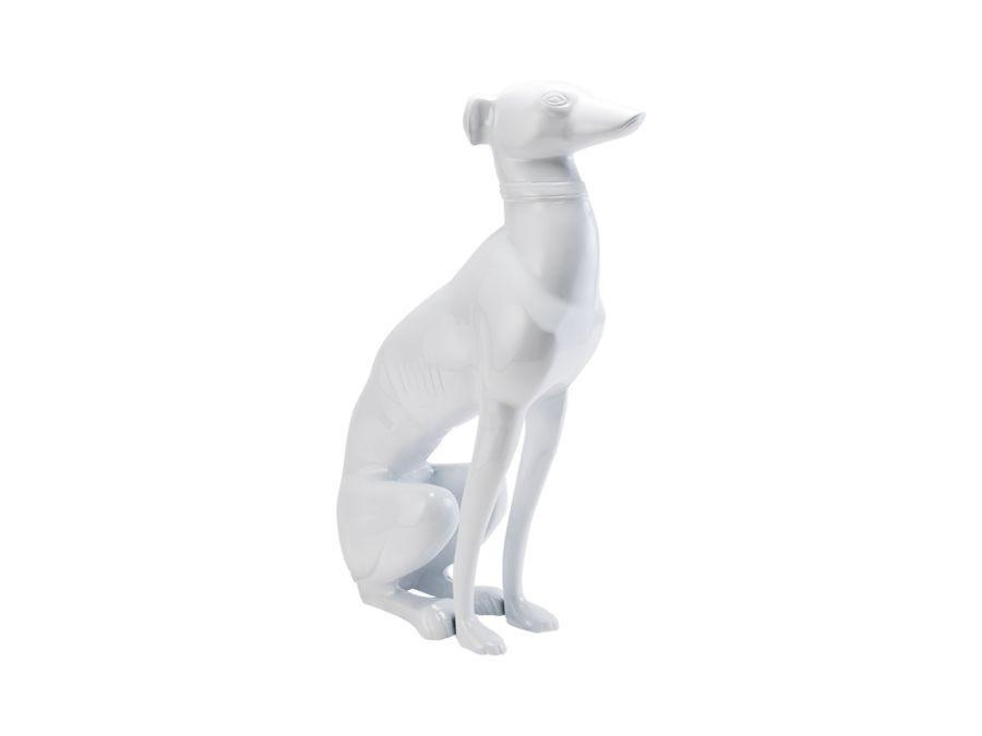 Sitting Greyhound White