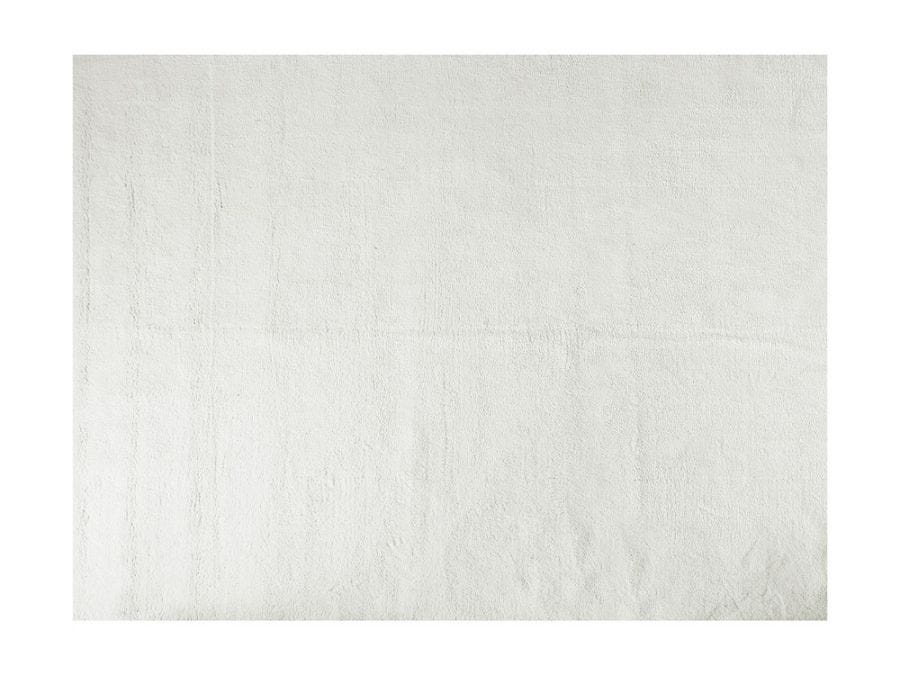 Soft Shaggy Rug, White 8x10
