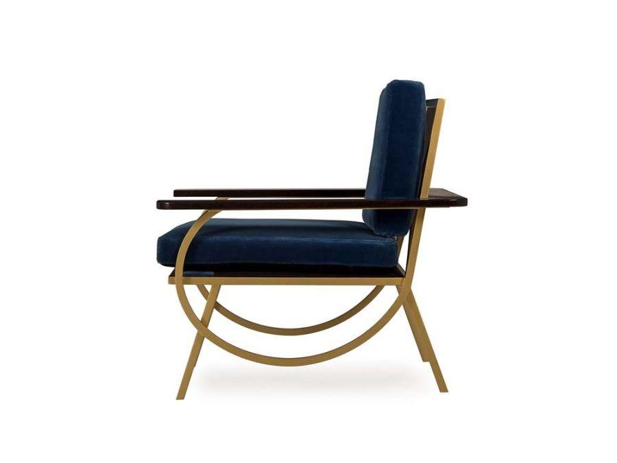 B Chair, Vana Blue Velvet