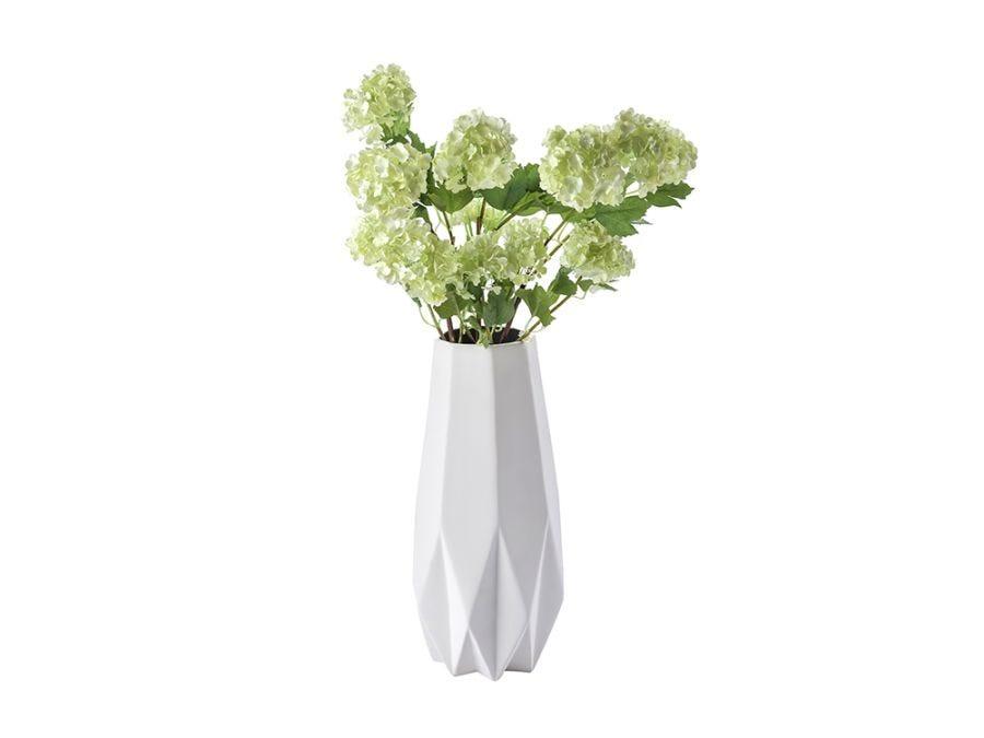 Origami Flat Vase Grey - Med