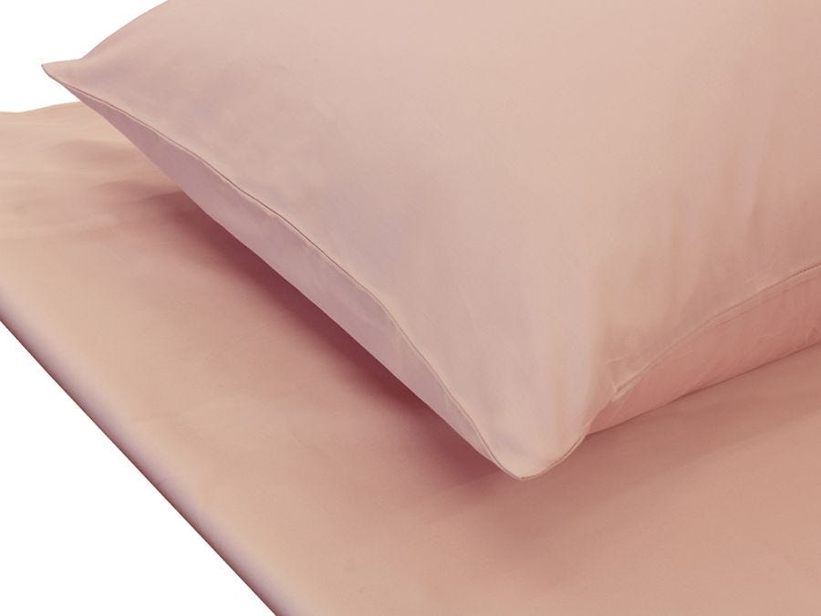 Plain Pink King Fitted Sheet