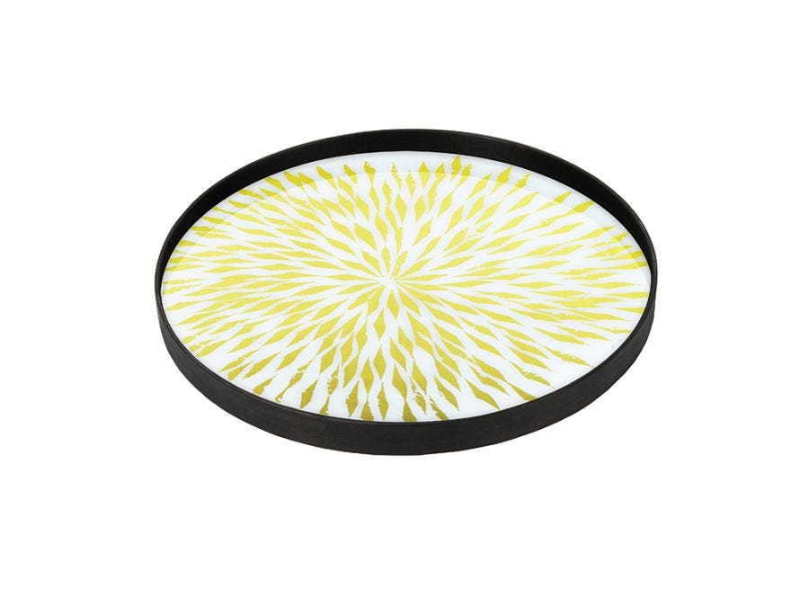 Dahlia Glass Tray Large