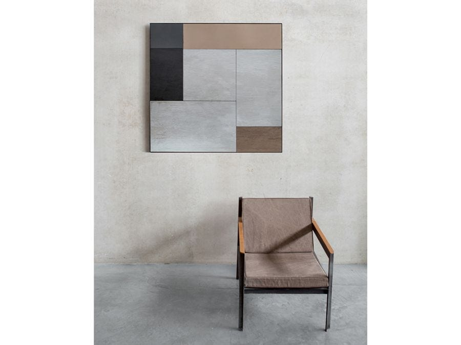 M Sq Wall Mirror Metal Frame