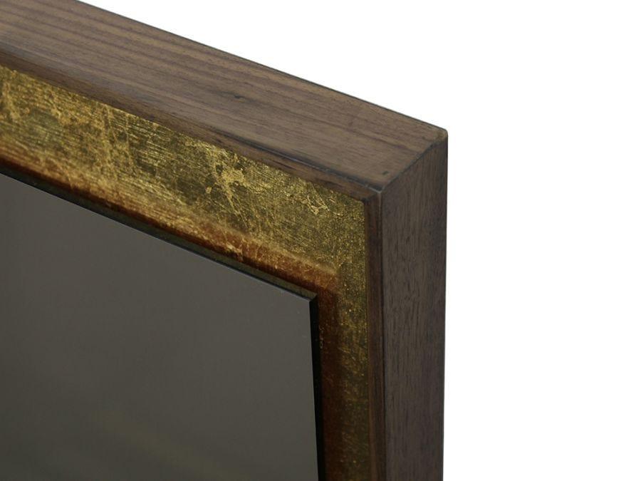 Gold Leaf Rec Bronze Wall Mir