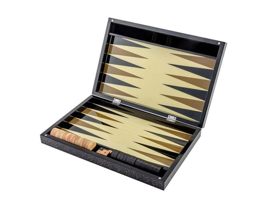 Black Burl Backgammon