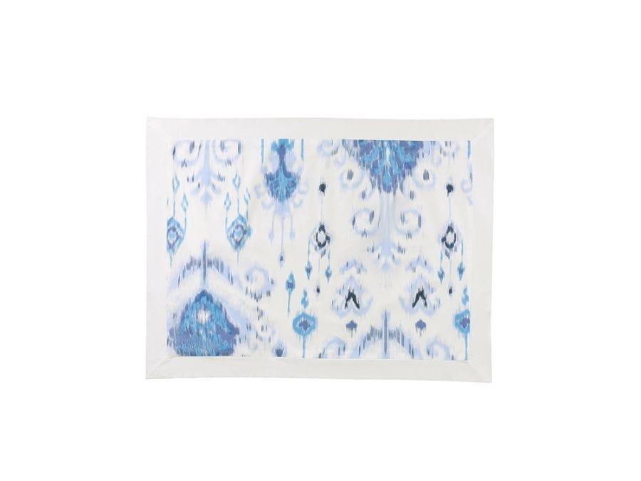 Ikat Blue 3Pcs Bed Set  King