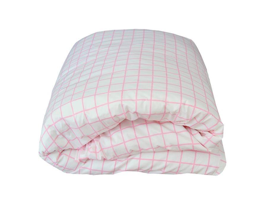 Almond Pink Duvet Cover Set, Single