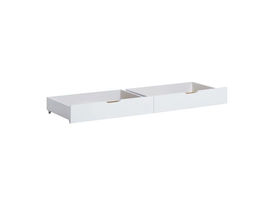 Drawer Set for Bed, White