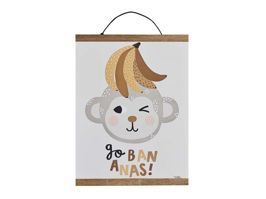 Go Bananas Poster With Hanger