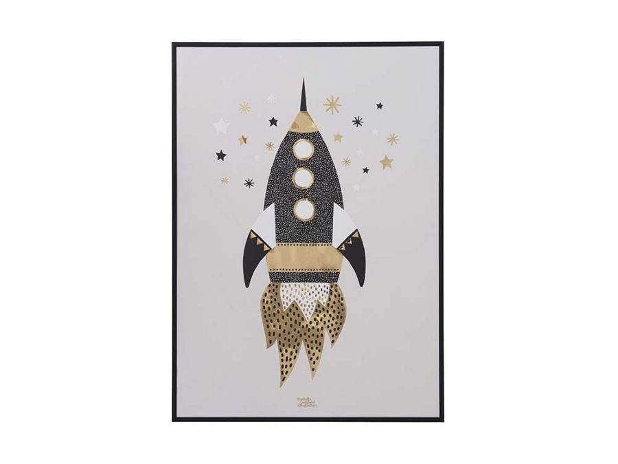 Gold Space Poster - L