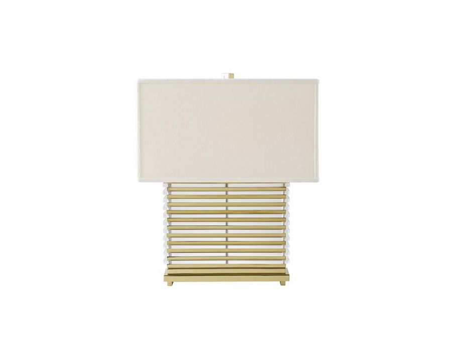 Stack Table Lamp  Brass White