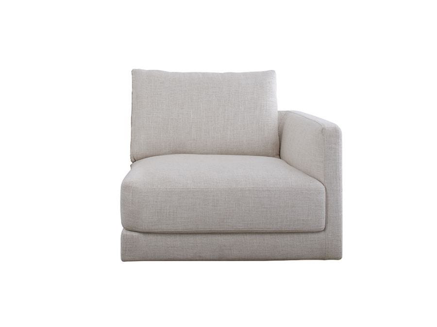 Basel 1 Seater Right Arm, Oat