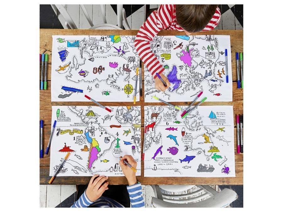Doodle Map Placemat