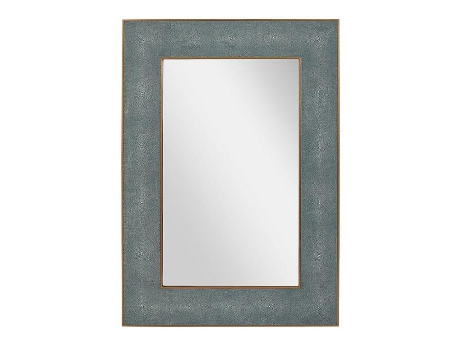 Shagreen Teal Wall Mirror L
