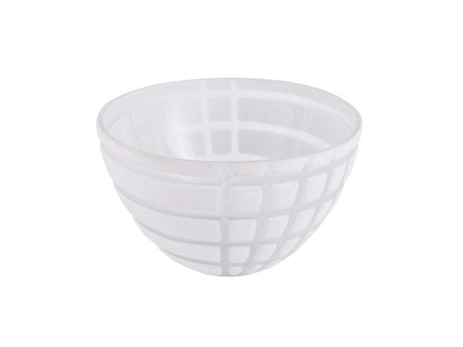 Checkered White Bowl