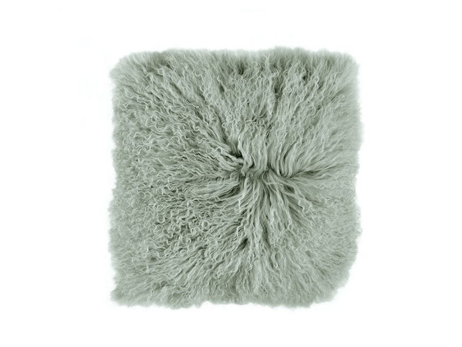 Tibet Lamb Fur Cushion Cover Green