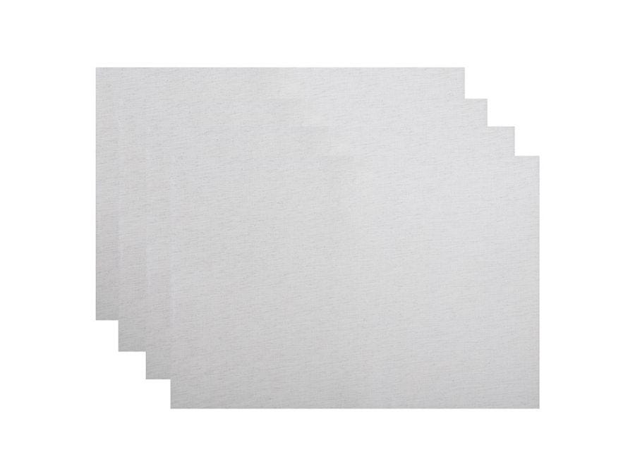 Shimmer Placemat Set 4, Silver
